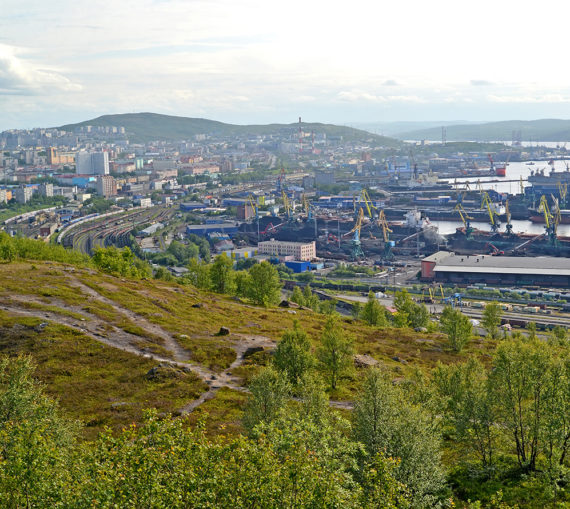 Panorama of Murmansk Commercial Seaport